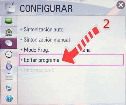 Ordenar canales tv LG Netcast 2