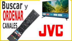 Cómo sintonizar y ordenar los canales en tv JVC 2020