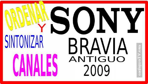 Ordenar y buscar canales Sony 2009 antiguo